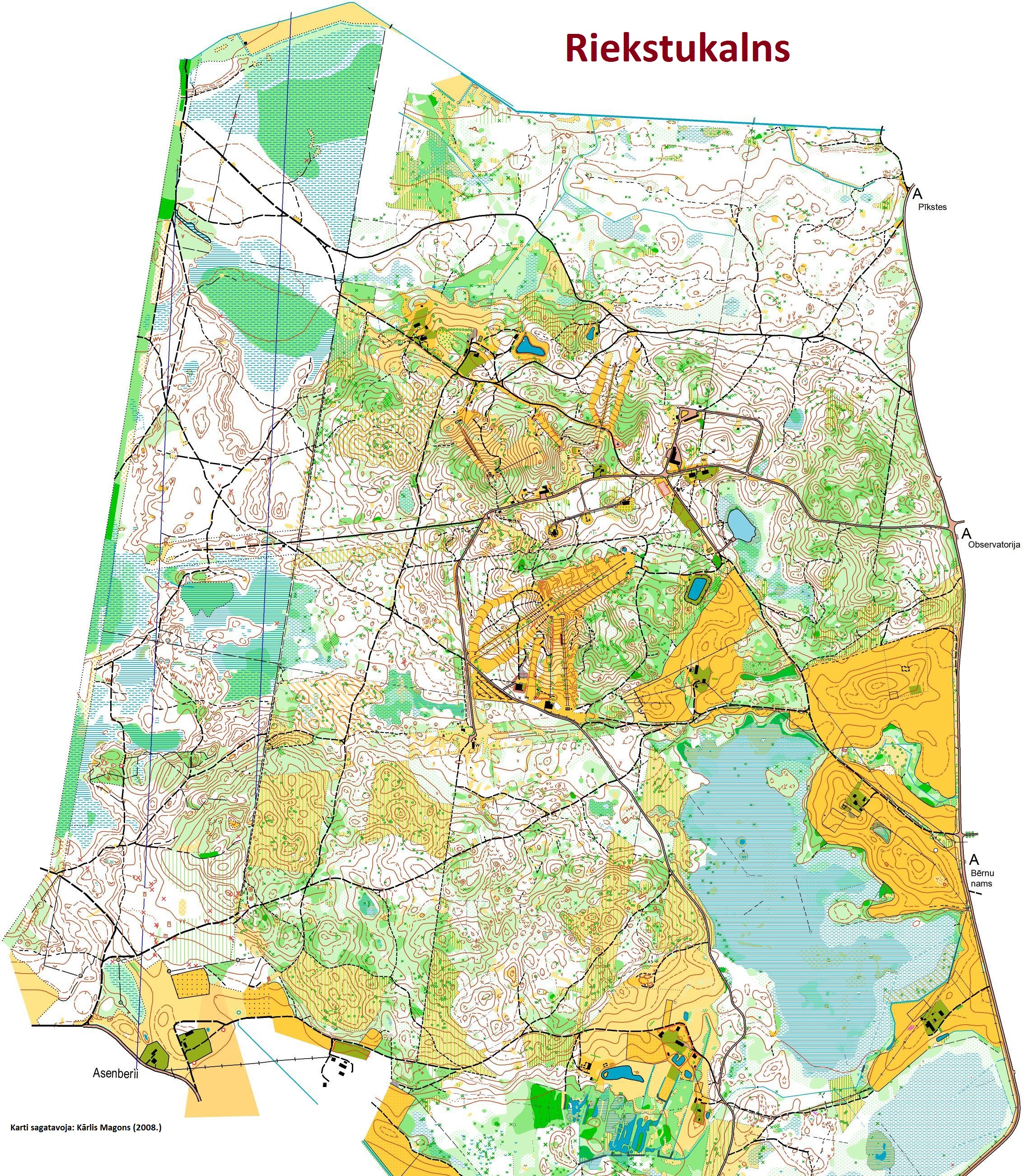 Orienteering competitions in Latvia